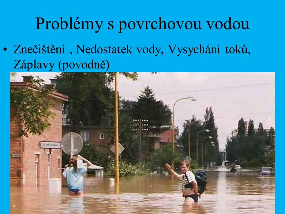 Problémy s povrchovou vodou