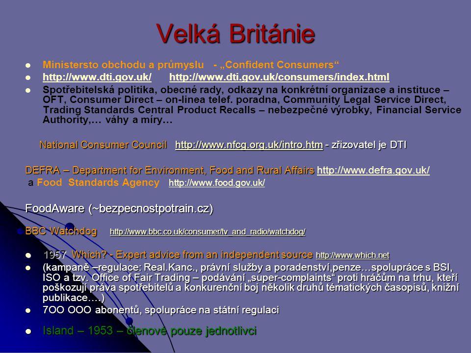 Velká Británie FoodAware (~bezpecnostpotrain.cz)