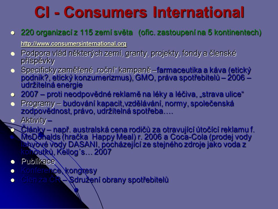 CI - Consumers International