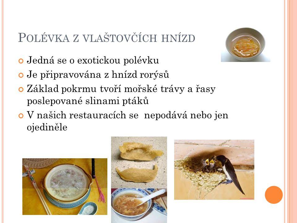 Polévka z vlaštovčích hnízd