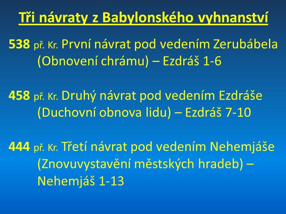 Tři návraty z Babylonského vyhnanství
