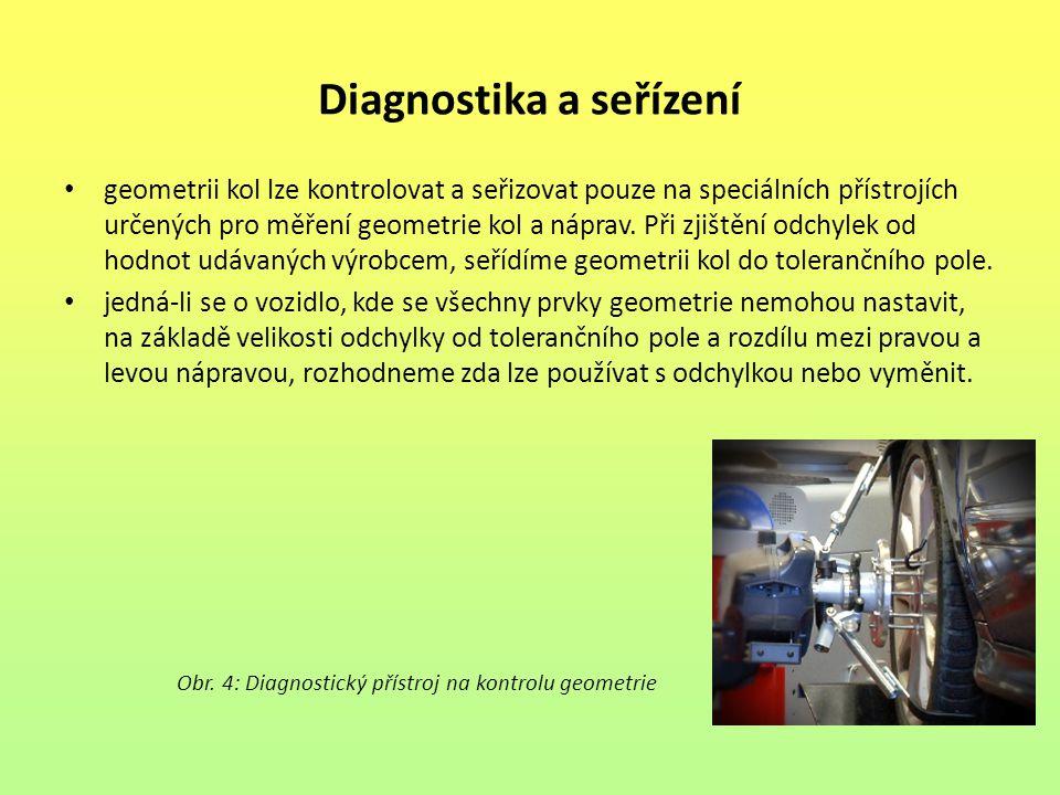 Diagnostika a seřízení