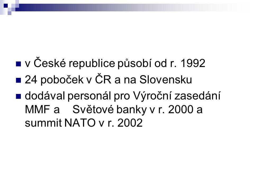 v České republice působí od r. 1992