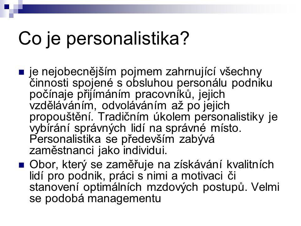 Co je personalistika