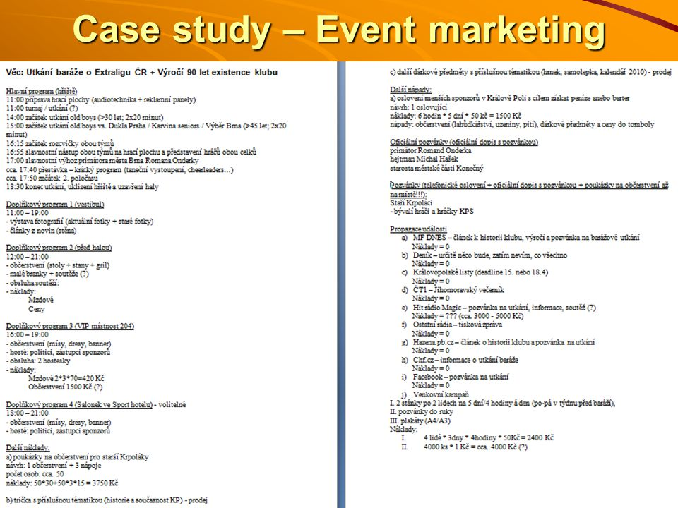 Case study – Event marketing