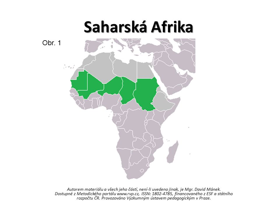 Saharská Afrika Obr. 1.