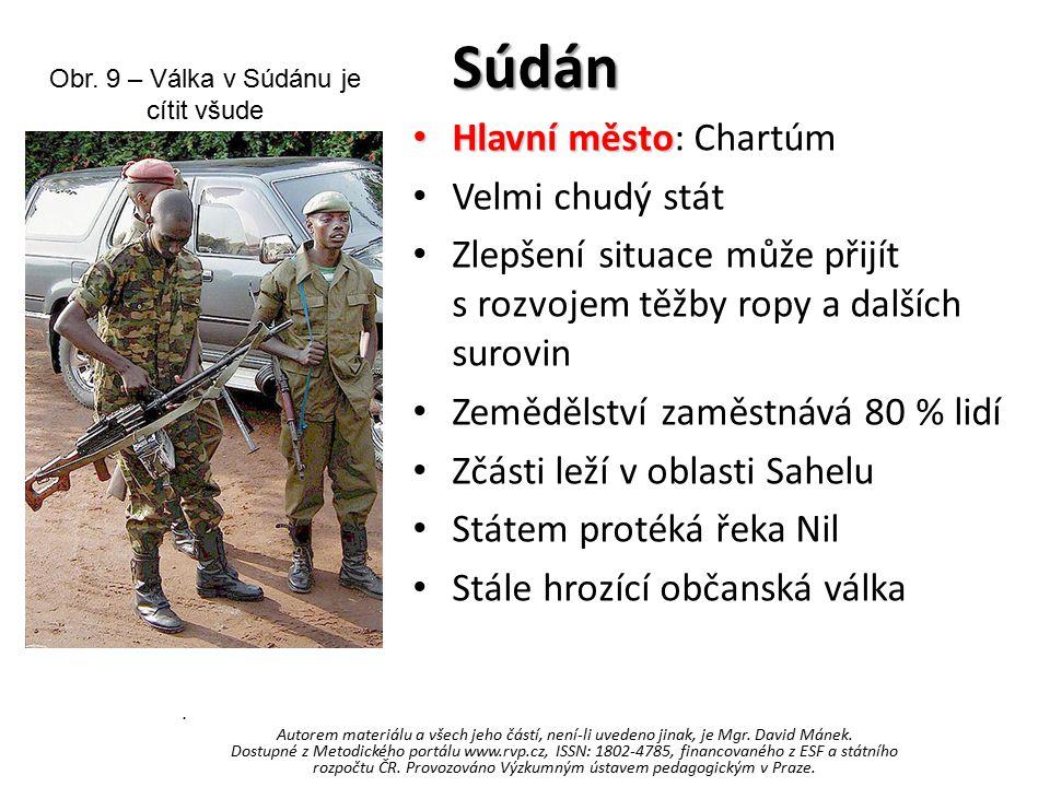 Obr. 9 – Válka v Súdánu je cítit všude