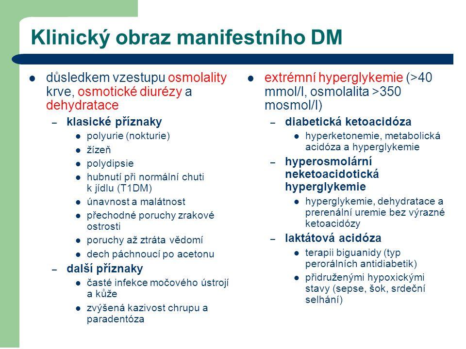Klinický obraz manifestního DM
