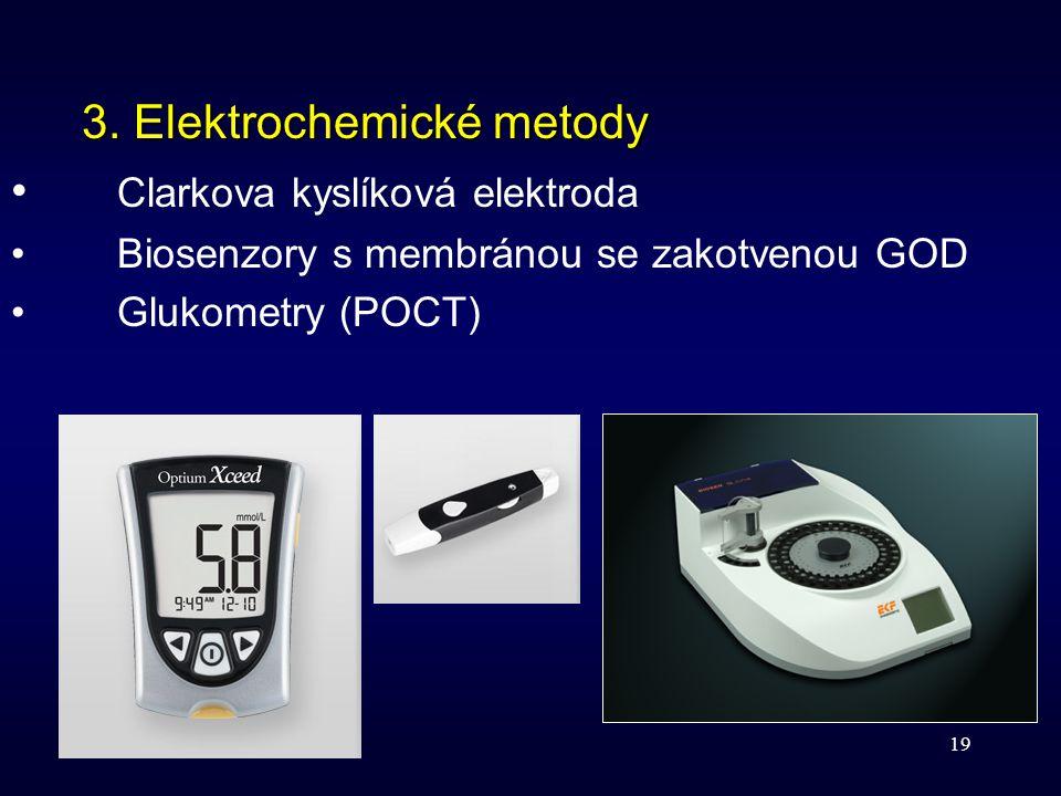 3. Elektrochemické metody Clarkova kyslíková elektroda