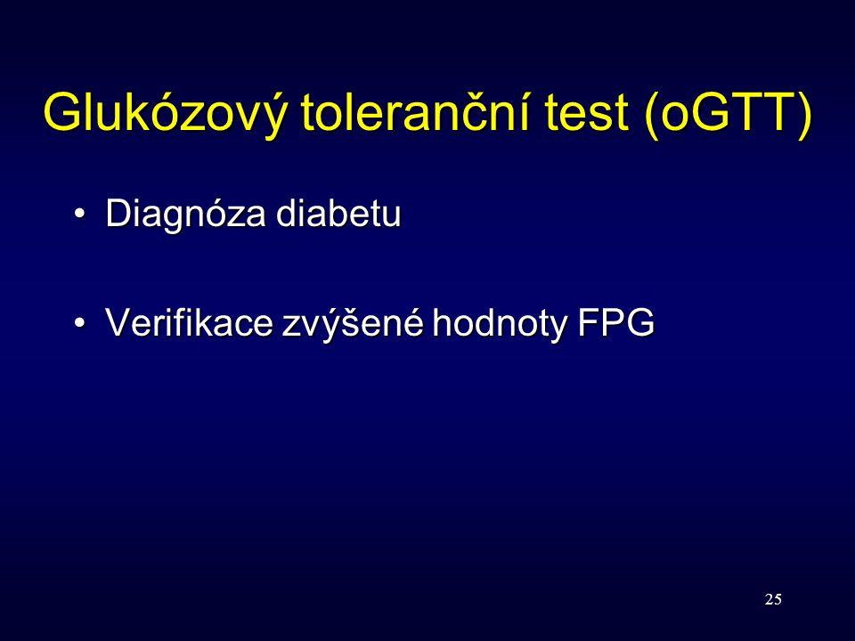 Glukózový toleranční test (oGTT)