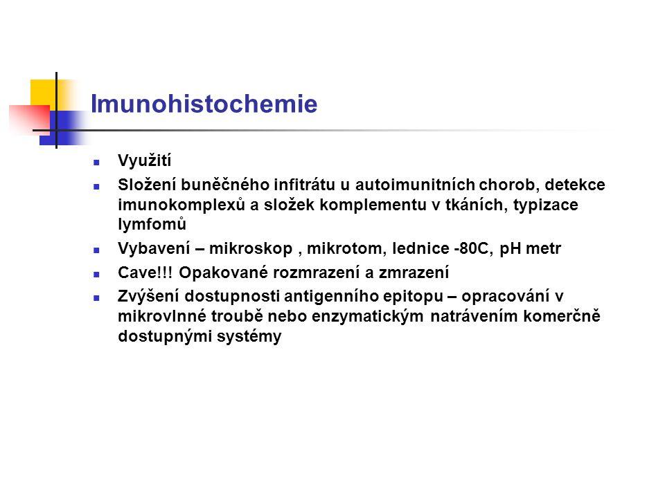 Imunohistochemie Využití