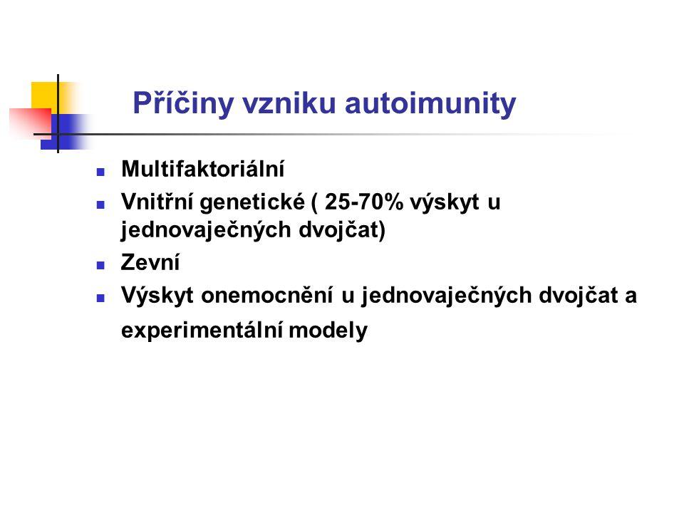 Příčiny vzniku autoimunity