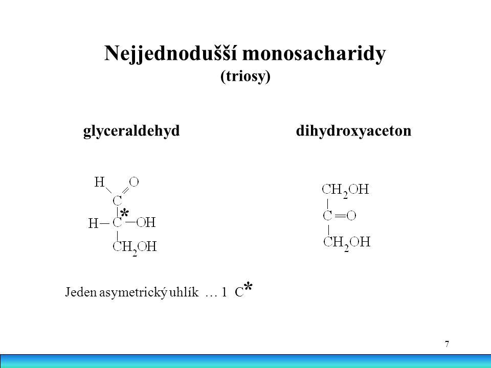 Nejjednodušší monosacharidy (triosy)