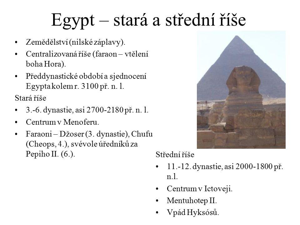 Egypt – stará a střední říše