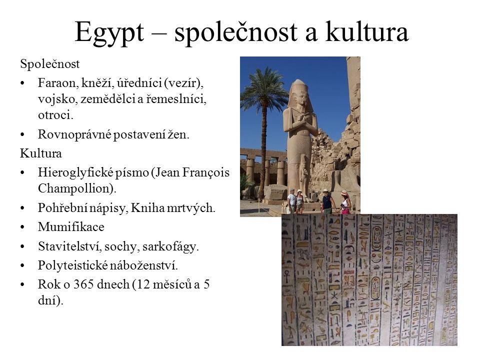 Egypt – společnost a kultura