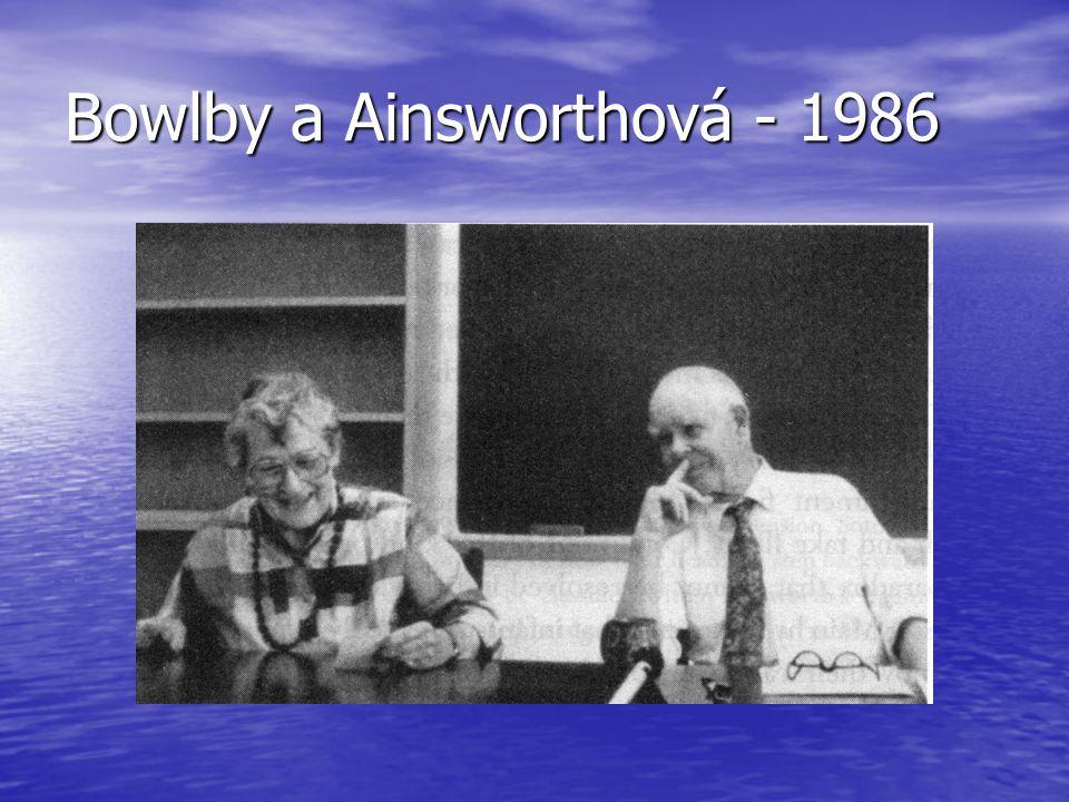 Bowlby a Ainsworthová - 1986