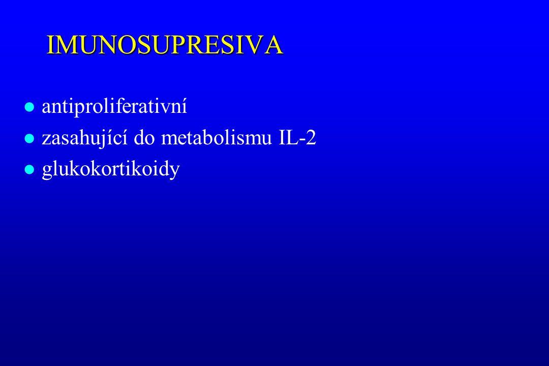 IMUNOSUPRESIVA antiproliferativní zasahující do metabolismu IL-2