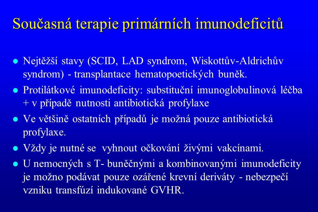 Současná terapie primárních imunodeficitů