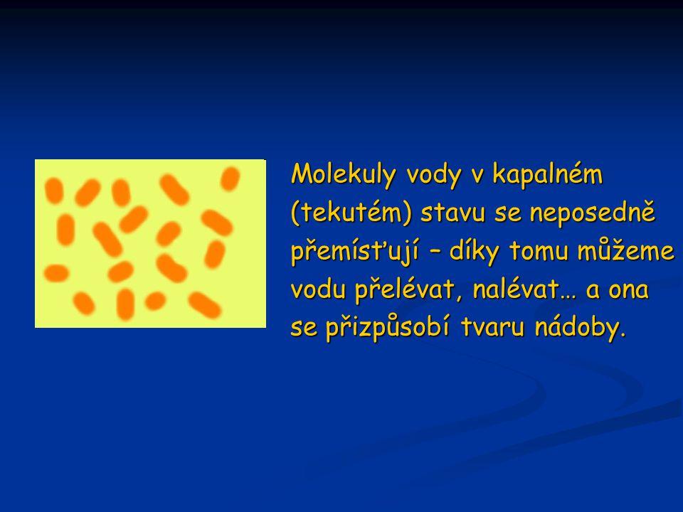 Molekuly vody v kapalném