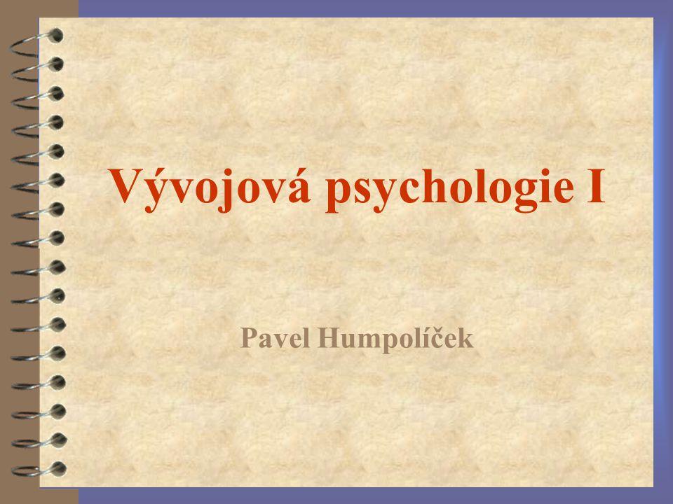 Vývojová psychologie I