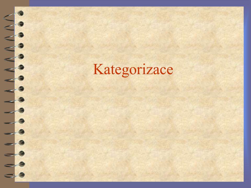 Kategorizace