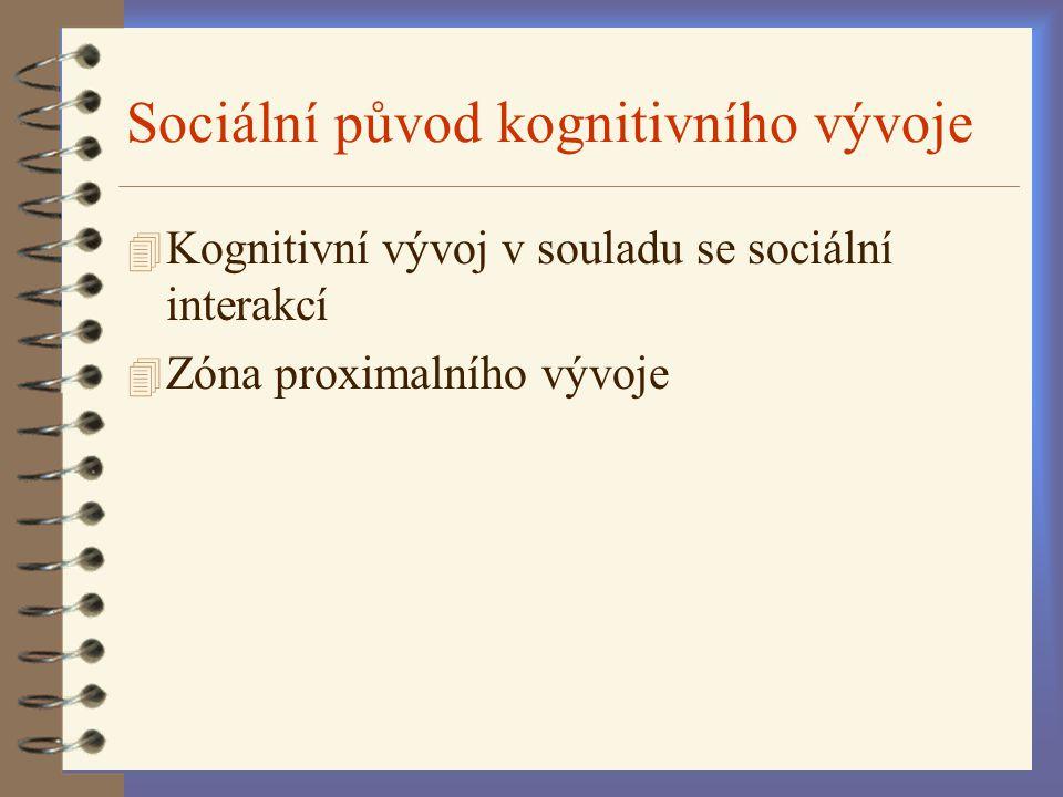 Sociální původ kognitivního vývoje