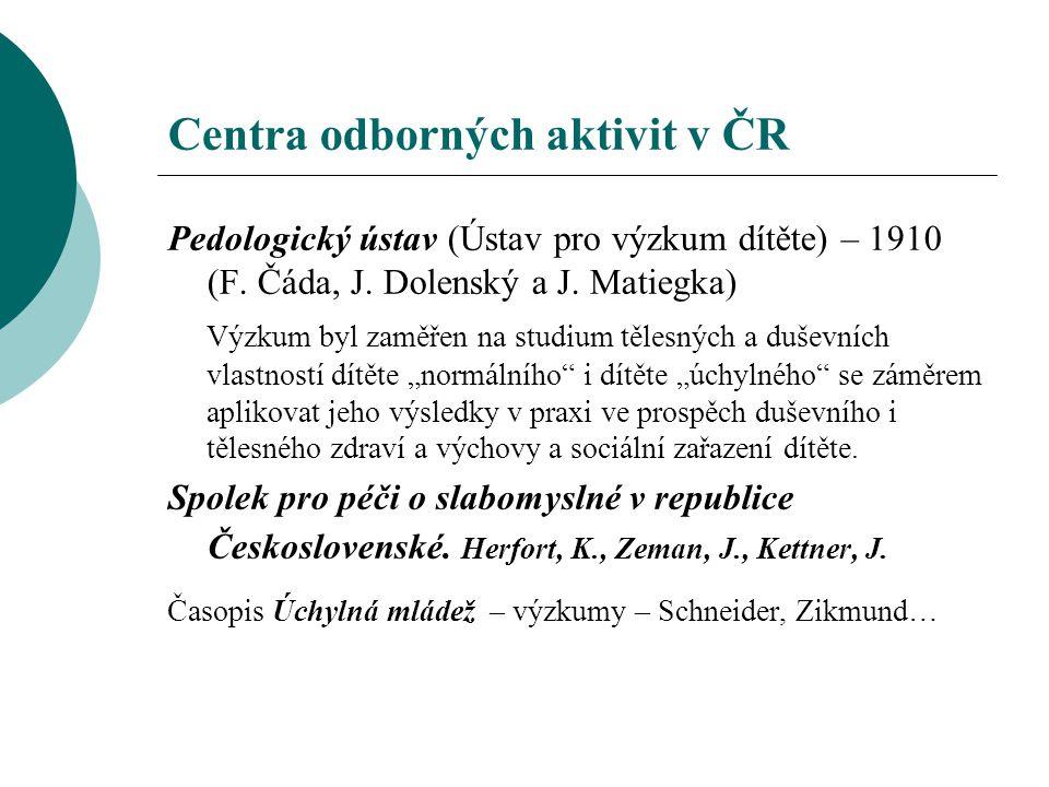 Centra odborných aktivit v ČR