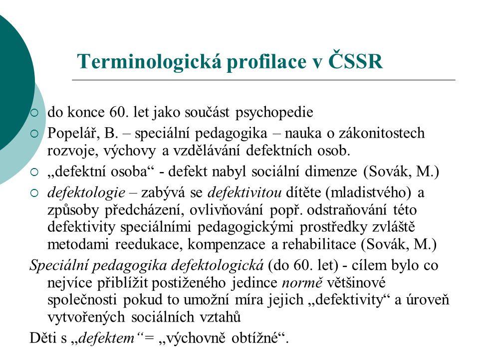 Terminologická profilace v ČSSR