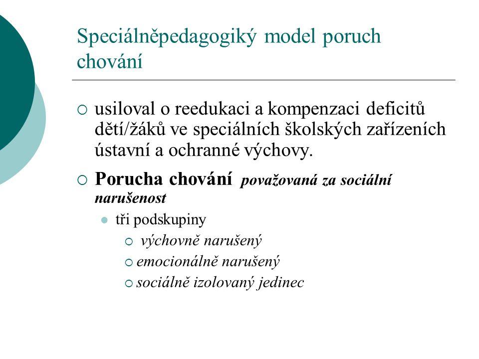 Speciálněpedagogiký model poruch chování
