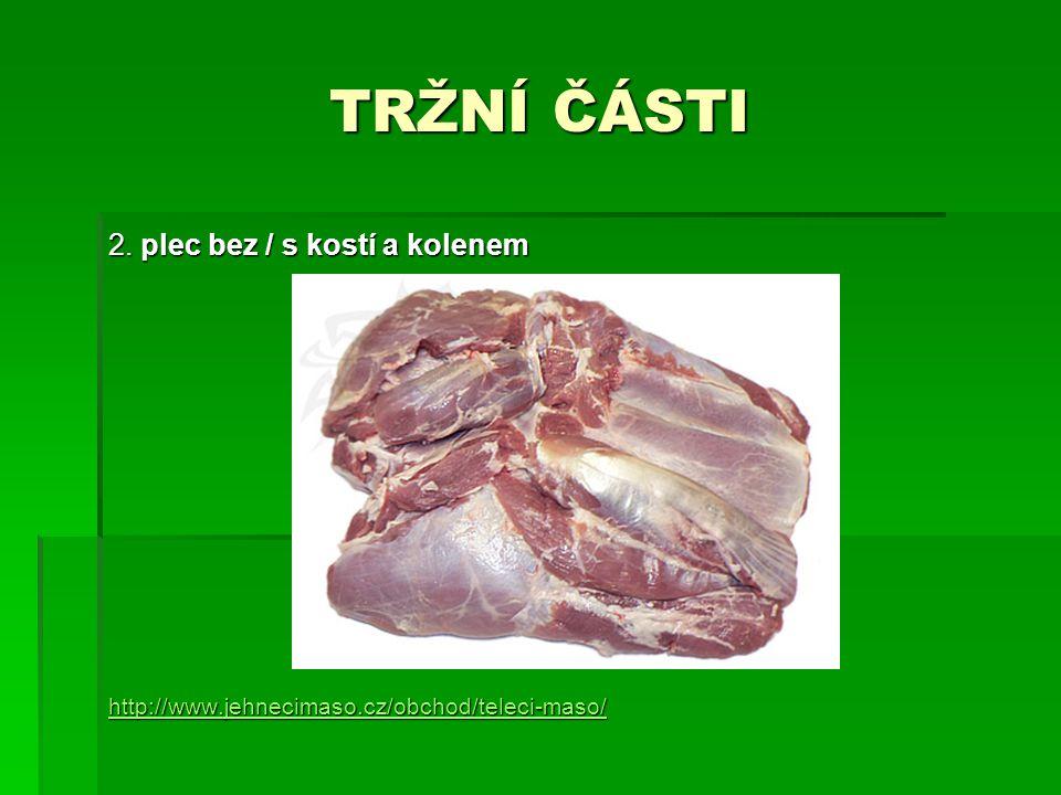 TRŽNÍ ČÁSTI 2. plec bez / s kostí a kolenem
