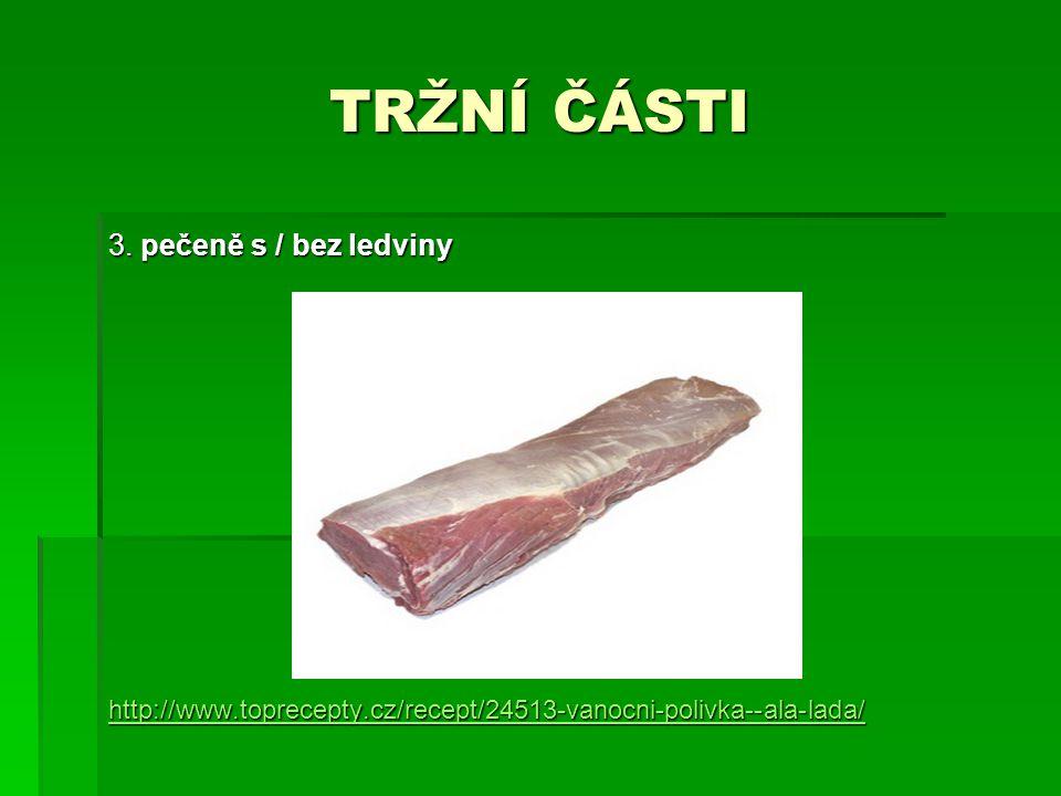 TRŽNÍ ČÁSTI 3. pečeně s / bez ledviny