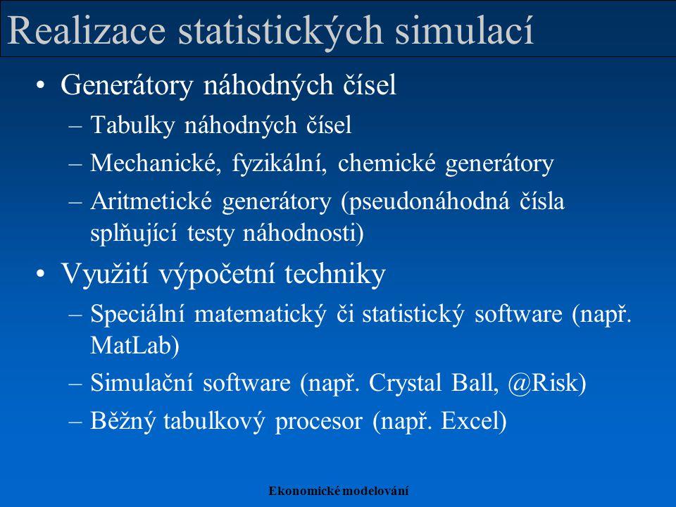 Realizace statistických simulací