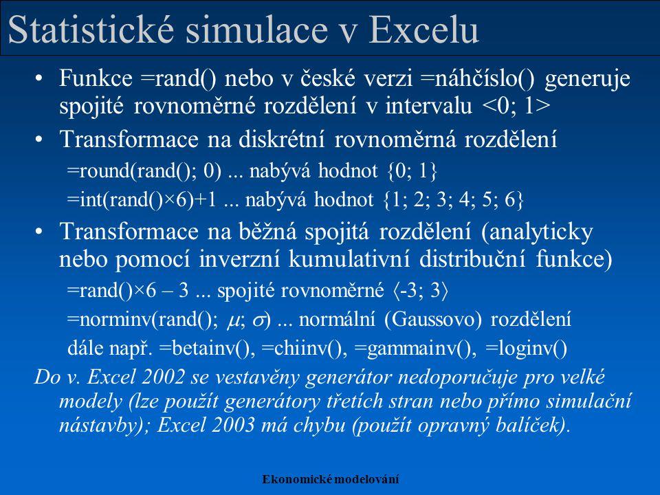 Statistické simulace v Excelu