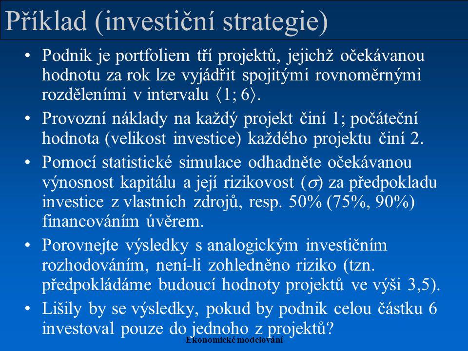 Příklad (investiční strategie)