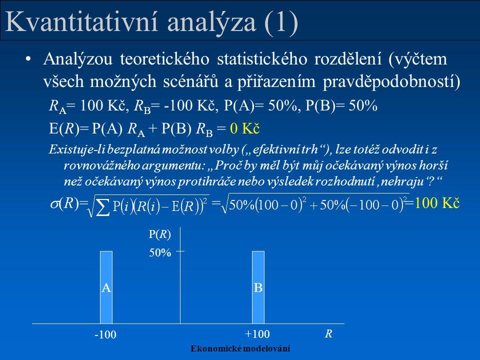 Kvantitativní analýza (1)