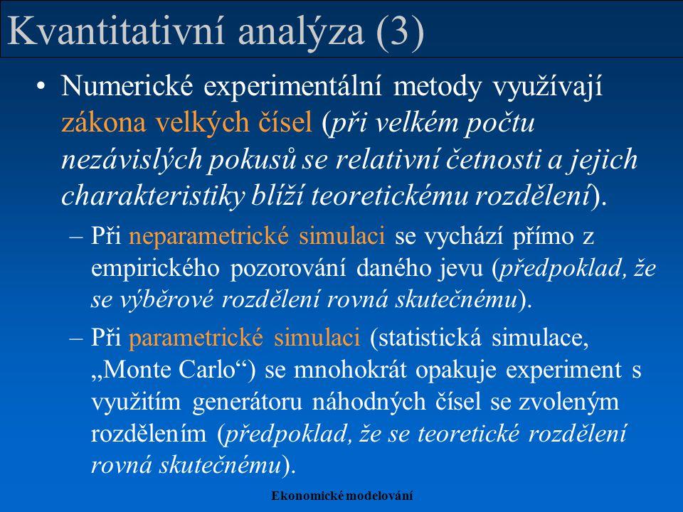 Kvantitativní analýza (3)