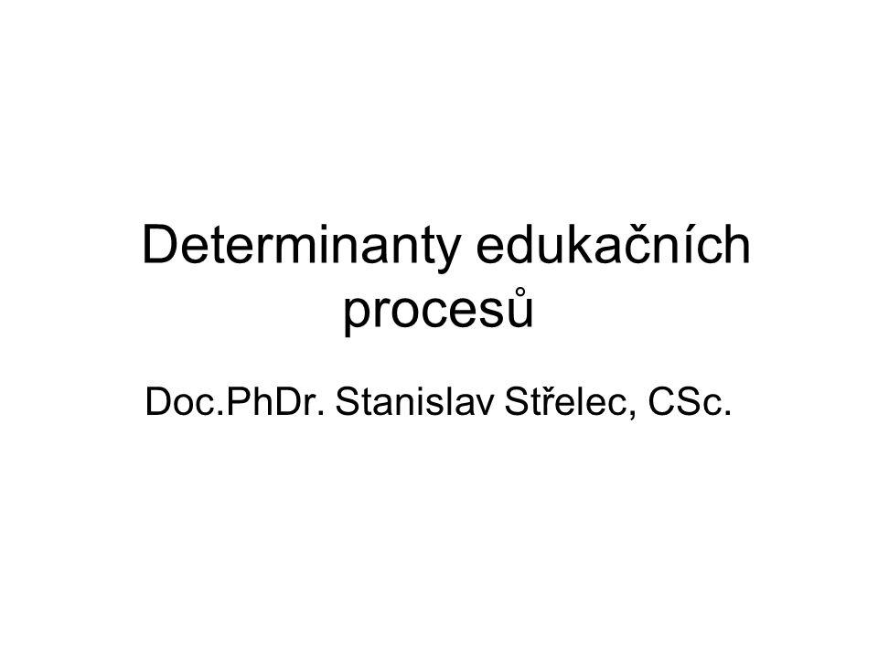Determinanty edukačních procesů