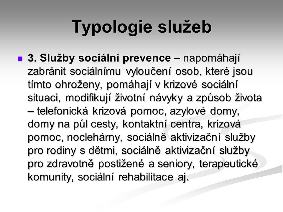 Typologie služeb