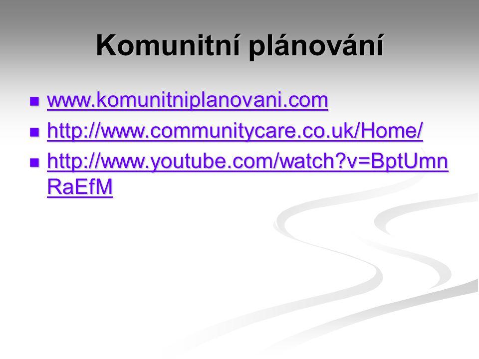 Komunitní plánování www.komunitniplanovani.com