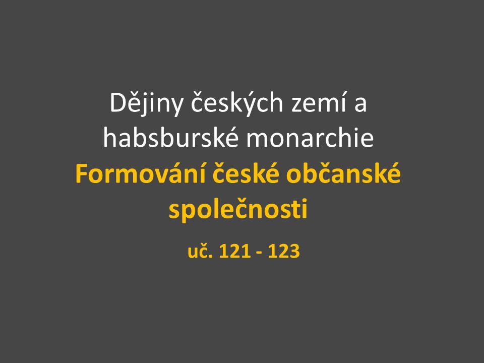 Dějiny českých zemí a habsburské monarchie Formování české občanské společnosti