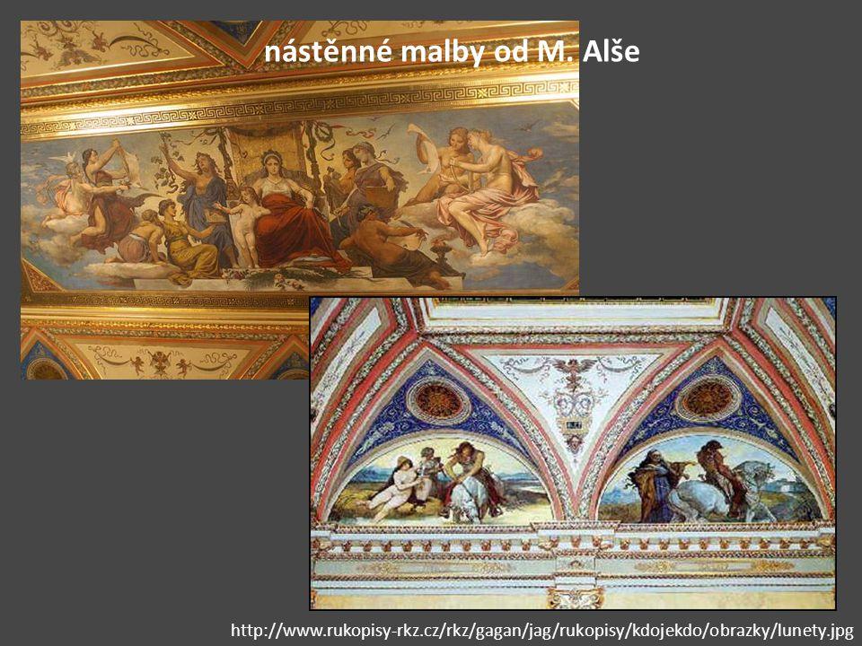 nástěnné malby od M. Alše