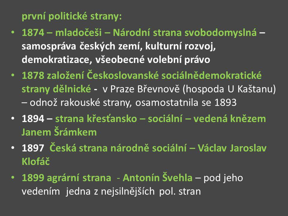 první politické strany: