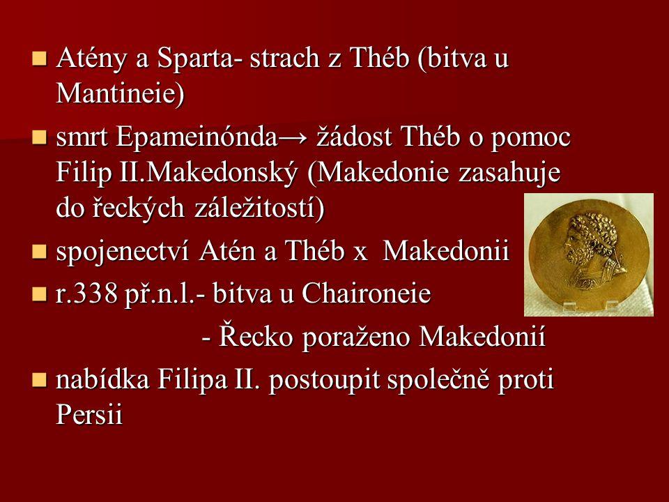 Atény a Sparta- strach z Théb (bitva u Mantineie)