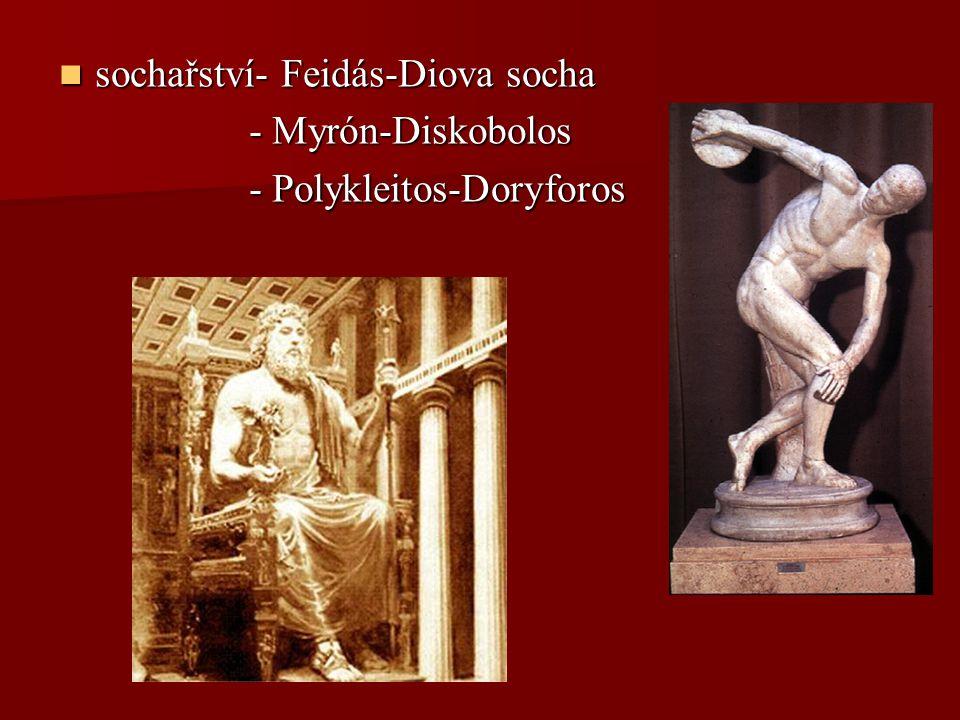 sochařství- Feidás-Diova socha