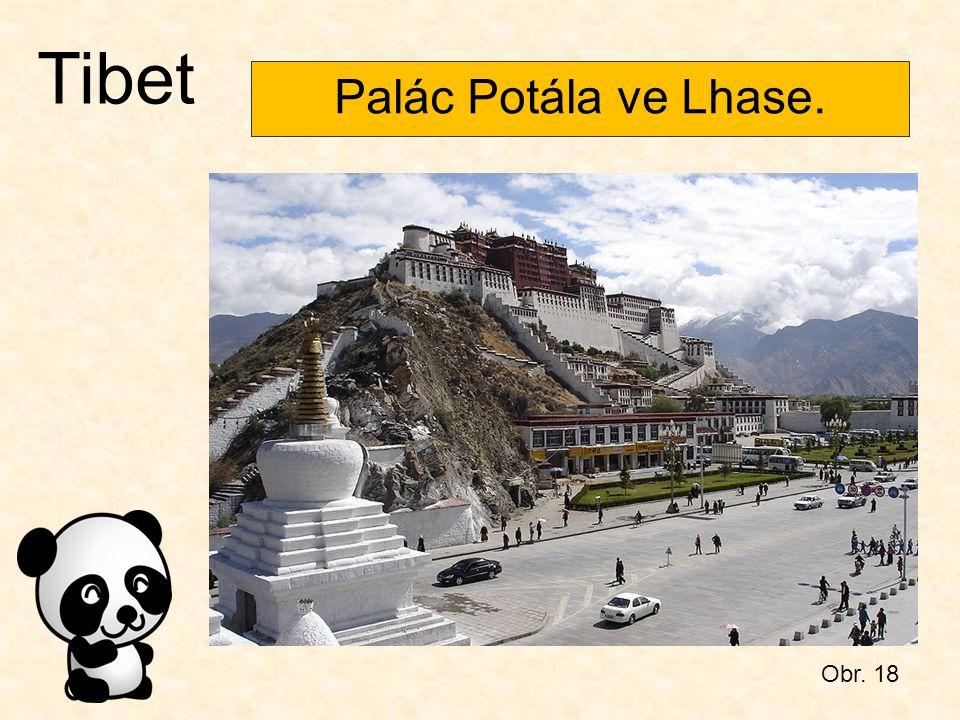Tibet Palác Potála ve Lhase. Obr. 18