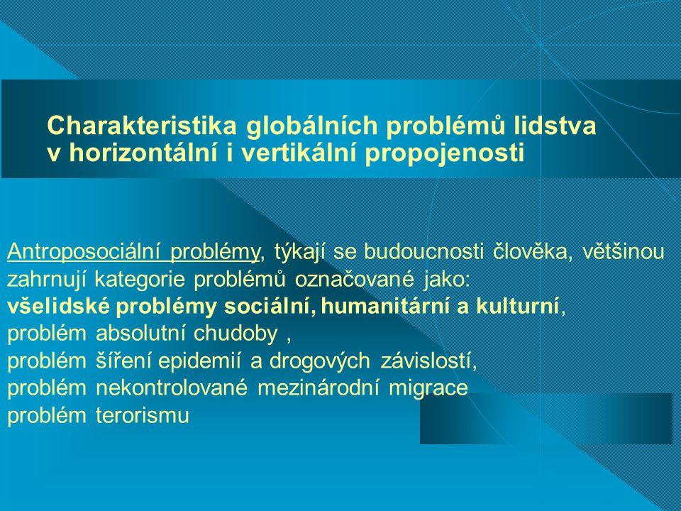 Charakteristika globálních problémů lidstva v horizontální i vertikální propojenosti
