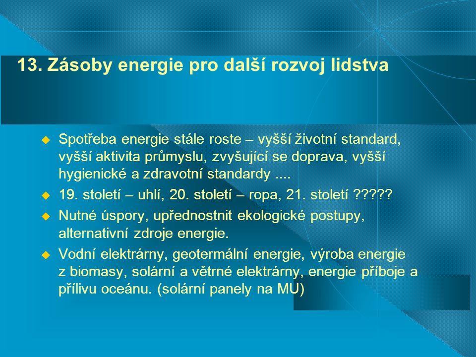 13. Zásoby energie pro další rozvoj lidstva
