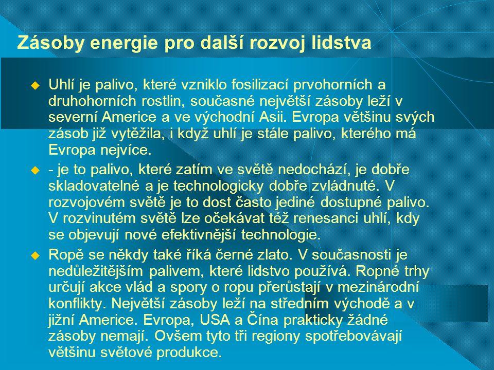 Zásoby energie pro další rozvoj lidstva