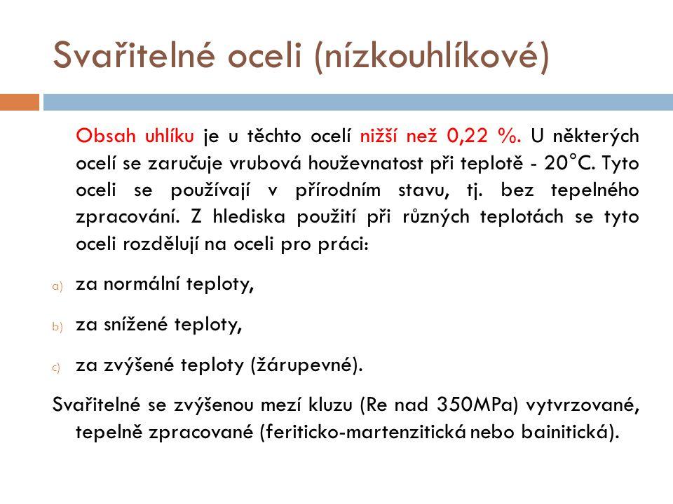 Svařitelné oceli (nízkouhlíkové)