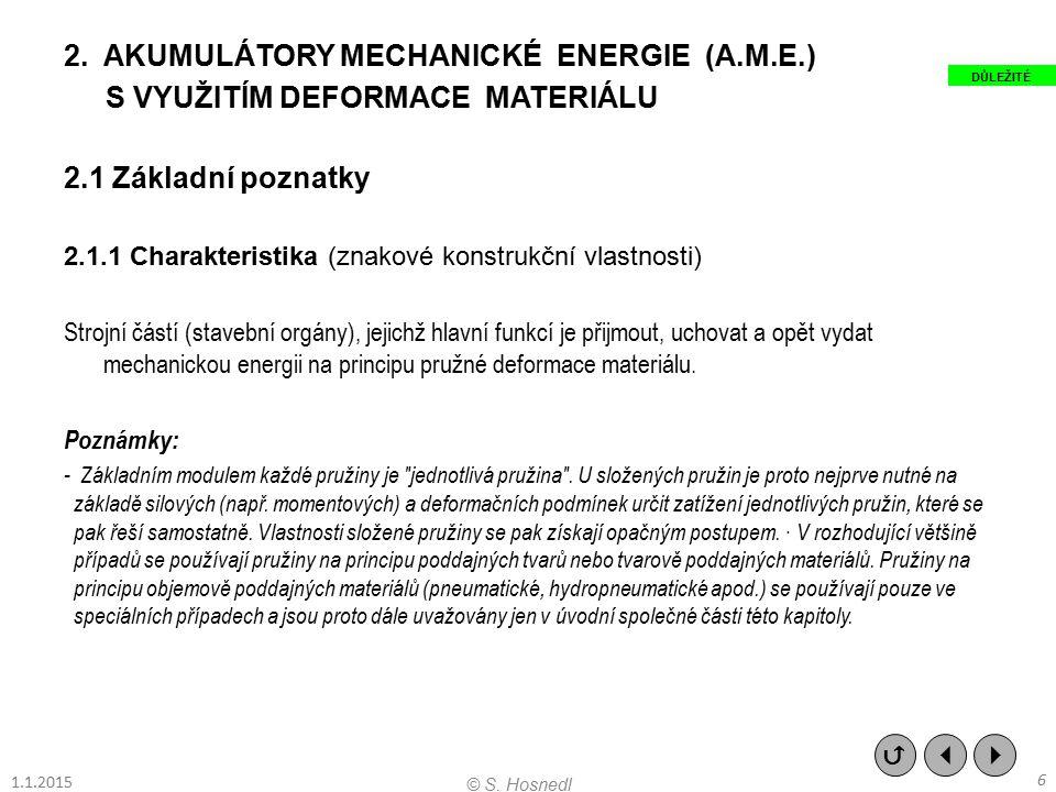 AKUMULÁTORY MECHANICKÉ ENERGIE (A.M.E.) S VYUŽITÍM DEFORMACE MATERIÁLU